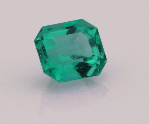 Emerald cut emerald 0.58ct
