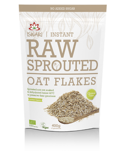 Iswari Organic Raw Sprouted Oat Flakes, 250g