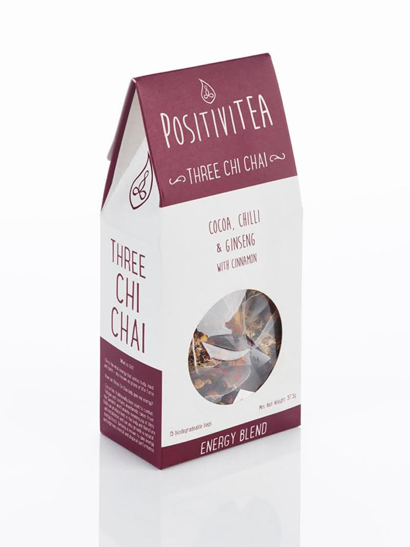 Positivitea Three Chi Chai Tea (15 tea bags)