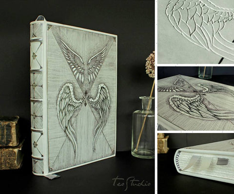 White leather Angels Journal