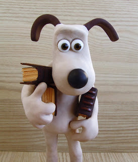 Gromit with miniature books