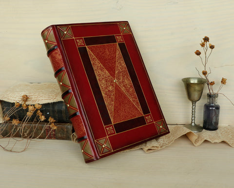 "Magic Leather Journal, Blank Book, ""The Mysterious Tome"""