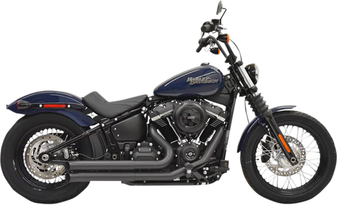 Bassani Pro-Street Exhaust for 2018-19 Harley Softail Models - Black - 1S35DB