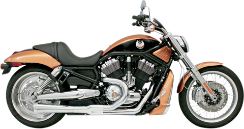 Bassani Road Rage Exhaust for 2002-05 Harley V-Rod - Chrome - 1V12J