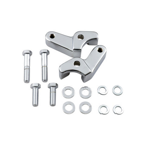 LA Choppers Rear Lowering Kit for 2017-20 Harley Touring Models - Chrome - LA-7590-06