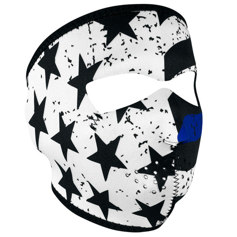 ZAN HeadGear Neoprene Full Face Mask - Thin Blue Line - WNFM119