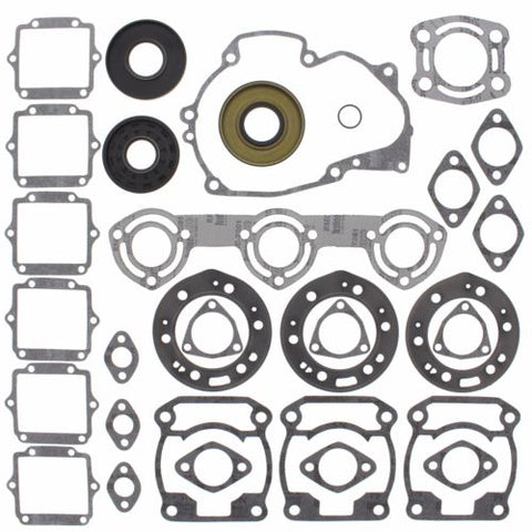 Winderosa - 611802 - Complete Gasket Kit w/ Seals for 1993-95 Polaris SL/SLT 750