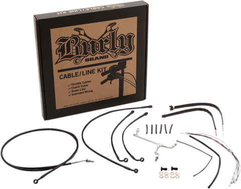 Burly Brand Cable/Line Extension Kits for 2017-19 Harley FLT models - B30-1185