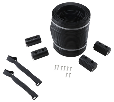 Caliber Bunk Wrap Kit with End Caps - 24ft x 2in x 6in - Black - 23056-BK