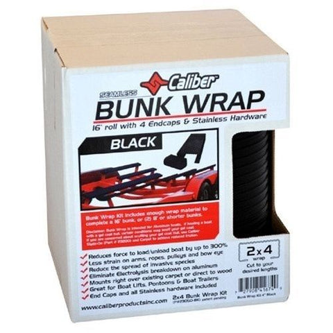 Caliber Bunk Wrap Kit - Black w/End Caps - 16ft x 2in x 4in - 23050-BK