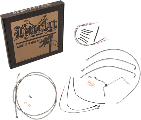Burly Brand B30-1158 Cable and Brake Line Kit for 2014-16 Harley FLH models