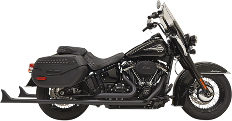 Bassani True Duals Exhaust for 2018-19 Harley Softail Models - Black - 1S76EB36