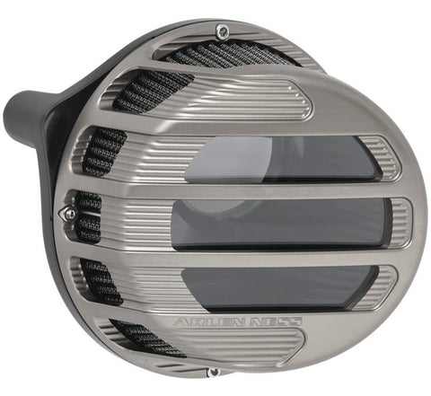 Arlen Ness Sidekick Air Cleaner for 2017-21 Harley M8 Touring models - Titanium - 81-308
