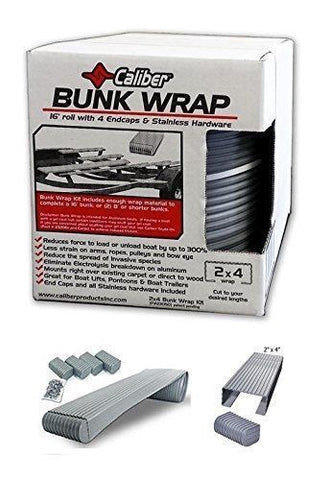 Caliber Bunk Wrap Kit with End Caps - Grey - 16ft x 2in x 4in - 23050