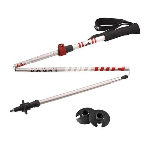 YC FLIPOUT TREKKING POLE - ALUMINUM (RED/SILVER)