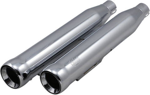 Cobra Neighbor Hater Mufflers for 1991-08 harley Dyna Models - Chrome - 6045