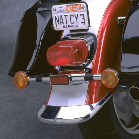 National Cycle N738 - Cast Rear Fender Tip for 1998-04 Suzuki VL1500LC Intruder - Chrome