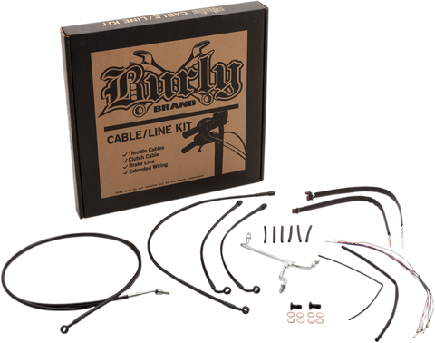 Burly Brand Extended Cable/Brake Line Kits for for 18 inch Gorilla Bars - B30-1178