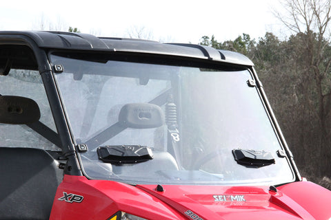 Seizmik 25025 Windshield Versa-Vent for Polaris Full Size Pro-Fit Ranger (Hard Poly)