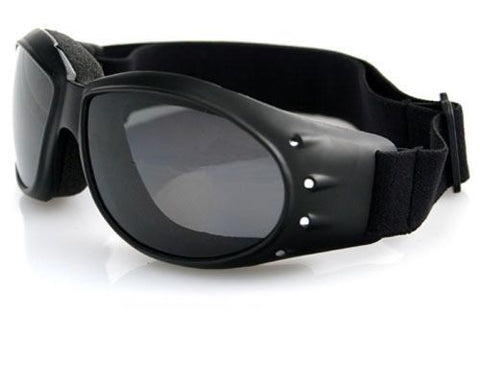 Bobster Cruiser Goggles - Black Frame/Smoked Reflective Lenses - BCA001R