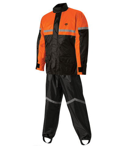 Nelson-Rigg SR-6000 Stormrider Rain Suit - Black/Orange - Large