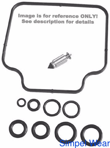Shindy Shindy 03-104 Carburetor Repair Kit for 1989-04 Kawasaki KLF300