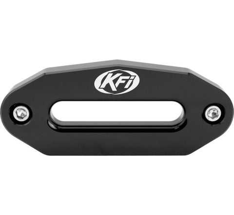 KFI Products Aluminum Hawse Fairlead - 6 Inch Wide Bolt Battern for UTV - Black - UTV-HAW-BLK