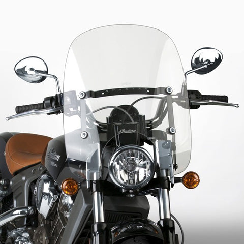 National Cycle N21303 - Spartan Quick Release Windshield - Indian Scout 2015-18 - Clear