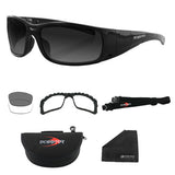 Bobster Eyewear Bobster BGUN001 Gunner Convertible (Black Frame) Photochromic & Clear Lenses - 2