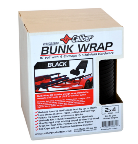 Caliber Bunk Wrap Kit with End Caps - 24ft x 2in x 4in - Black - 23050-BK