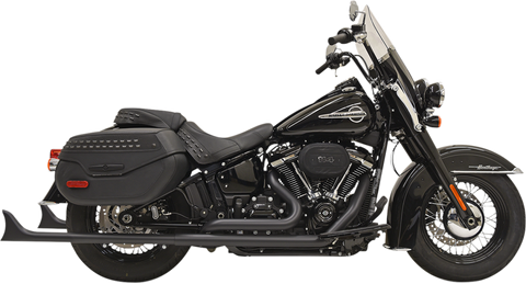 Bassani True Duals Exhaust for 2018-19 Harley Softail Models - Black - 1S76EB33