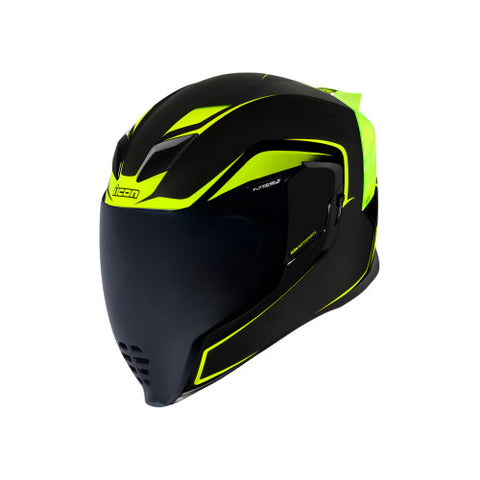 ICON Airflite Crosslink Helmet - H-Viz Yellow - XXX-Large