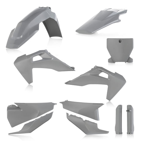 Acerbis Full Plastic Kit for Husqvarna models - Grey - 2726550011