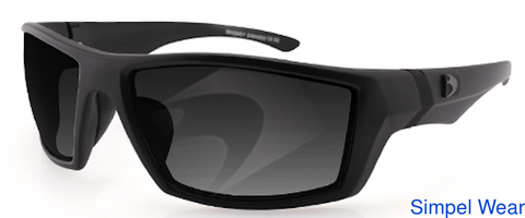Bobster Eyewear Bobster EWHI002 Whiskey Ballistic Sunglass (Matte Black Frame) Smoked Anti-Fog - 1