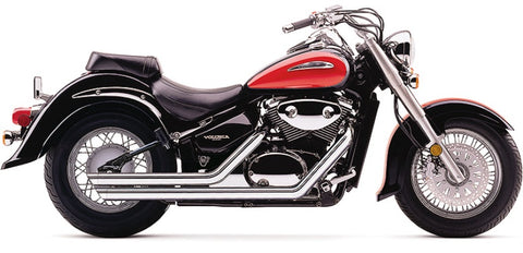 Cobra 3917 - 2-into-2 Speedster Streetrod Slash-Down Exhaust - Suzuki Boulevard C50 - Chrome