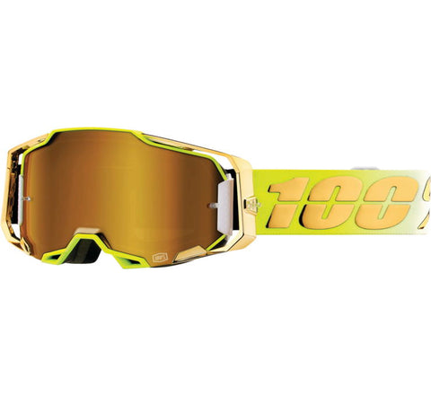 100% Armega Goggles - Feelgood with True Gold Lens