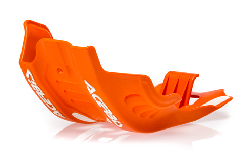 Acerbis Offroad Skid Plate for 2020-21 KTM models - 16 Orange/White - 2791645321