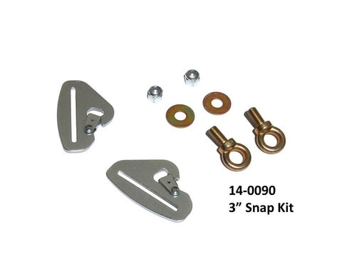 DragonFire Racing Quick Release Harness Mounting Kits - 3 Inch Snap Kit - 14-0090