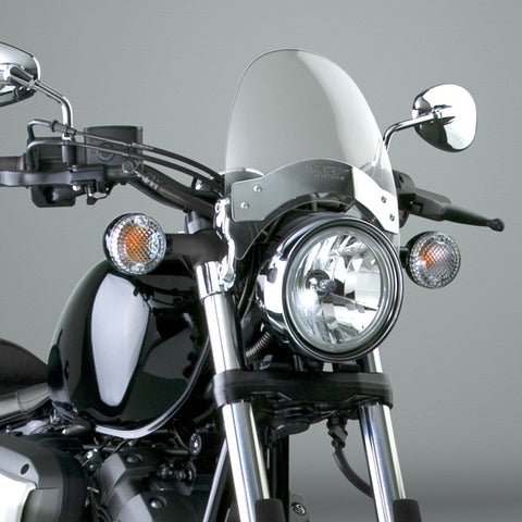 National Cycle N2530 - 8.5 Inch Flyscreen Windshield - Light Gray