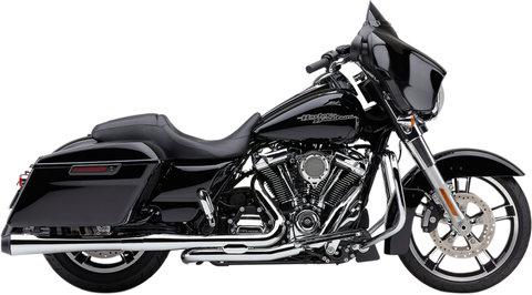 Cobra El Diablo 4 Inch Slip-On Mufflers for Harley Road King models - Chrome - 6206