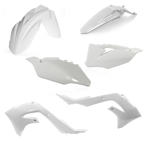 Acerbis Standard Plastic Kit for 2019-21 Kawasaki KX models - White - 2736280002