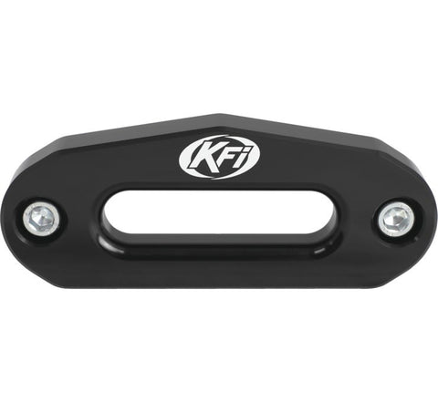 KFI Products Aluminum Hawse Fairlead - 4.875 Inch Wide Bolt Battern for ATV - Black - ATV-HAW-BLK