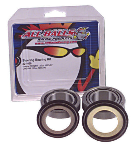 All Balls Steering Stem Bearing Kit for 1986-12 Kawasaki EX250 Ninja - 22-1014