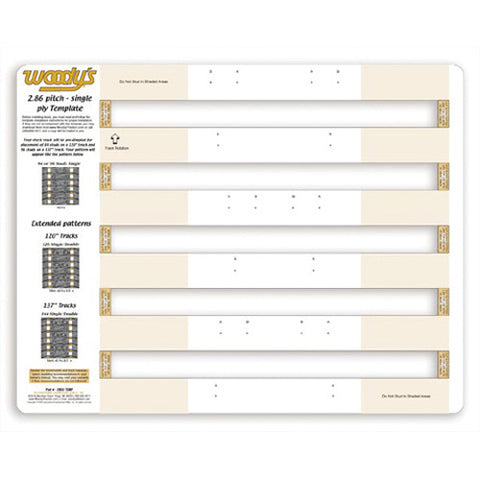Woodys 2865 Studding Template - Single Ply - 286S-TEMP