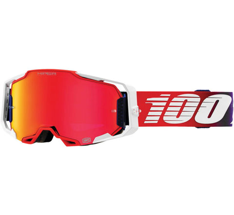 100% Armega Goggles - Factory with HiPER Red Lens