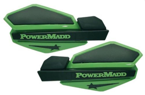 PowerMadd - 34203 - Star Series Handguards - Green/Black