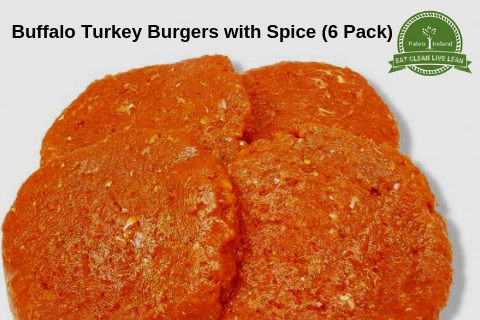Buffalo Turkey Burgers with Spice (6 Pack)