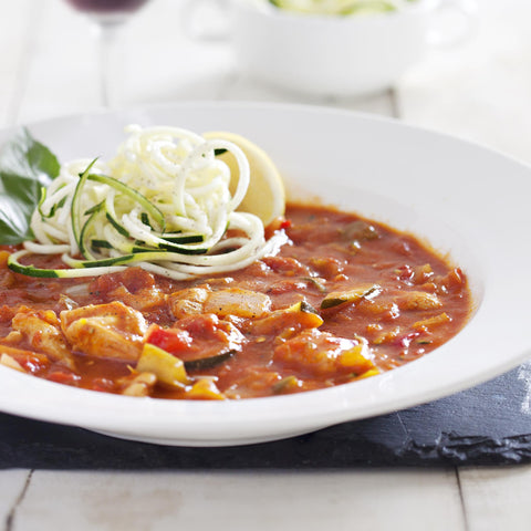 PALEO - Beef Bolognese with Courgette Noodles