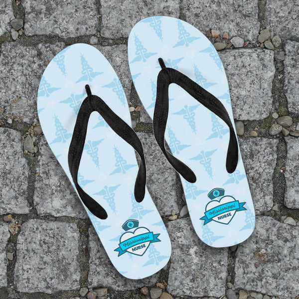 MS Nurse Blue Flip-Flops