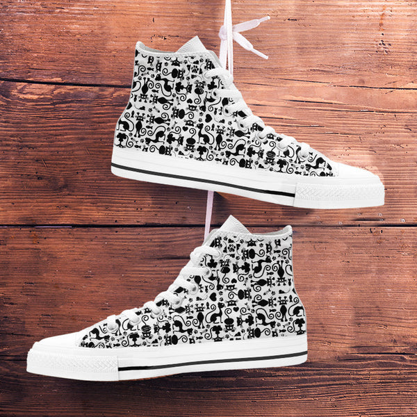 Cats White High Tops